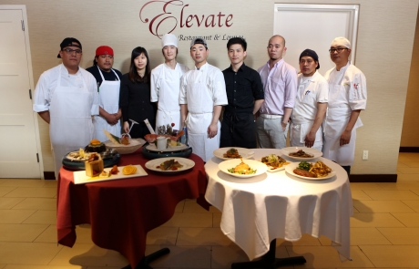 """LEO"" the iron chef of ELEVATE restaurant and lounge"