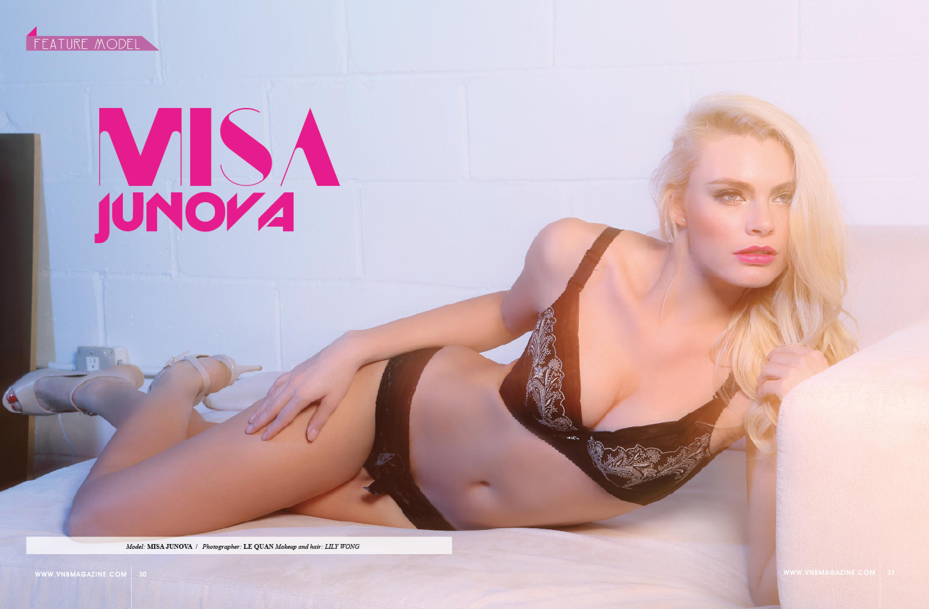 VNB magazine feature model: Misa Junova