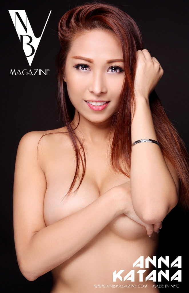 VNB magazine cover model Anna Katana