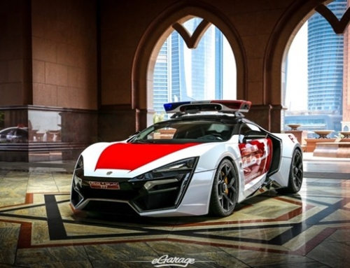 Detailed of the million dollars supercar for the Abu Dhabi police